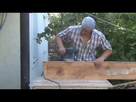 Реставрация старого подоконника