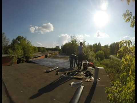 Ремонт крыши гаража своими руками/ Repair Of The Roof Of The Garage
