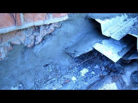 #гаража Ремонт бетонной крыши гаража 5 частьRepair Of A Concrete Roof Of Garage 5 Part