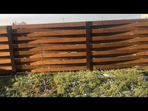Деревянный забор. Плюсы. Австрийская плетень