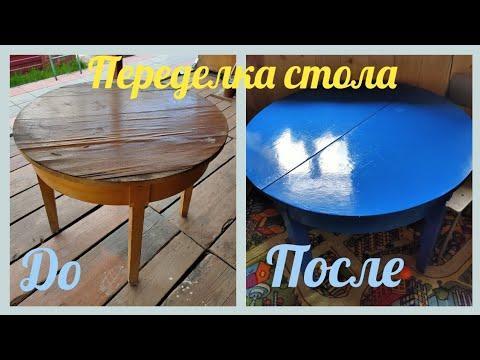 Переделка стола своими руками / вторая жизнь старым вещам / ремонт старой мебели