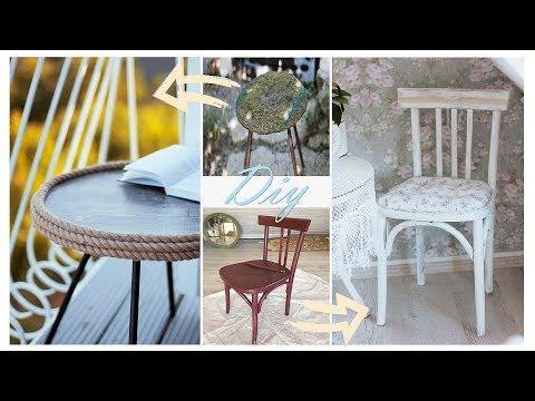 DIY: Реставрация старой дачной мебели №4/ Бюджетный домашний декор | Fosssaaa