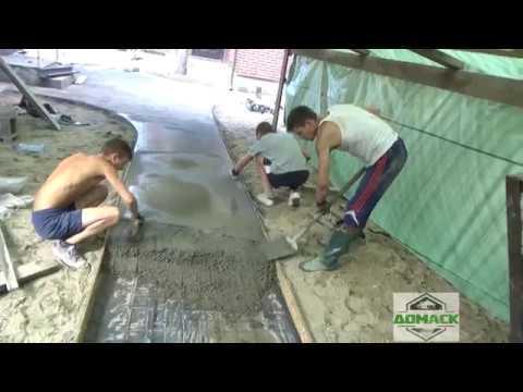 Дорожки по технологии печатного бетона своими руками.