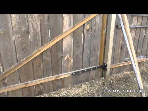 Деревянный забор своими руками. Временный забор для стройки. Забор из необрезной доски. Эконом забор