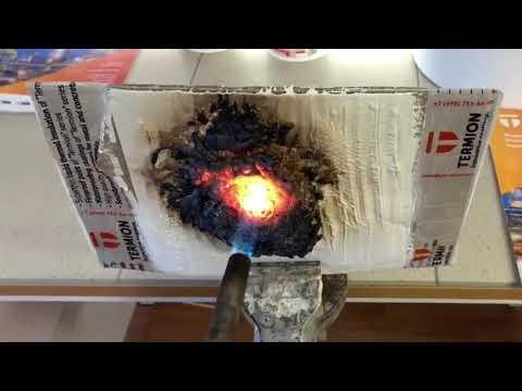Испытание огнезащитного покрытия Термион Огнезащита 02 для дерева (нанесение на картон толщиной 5мм)