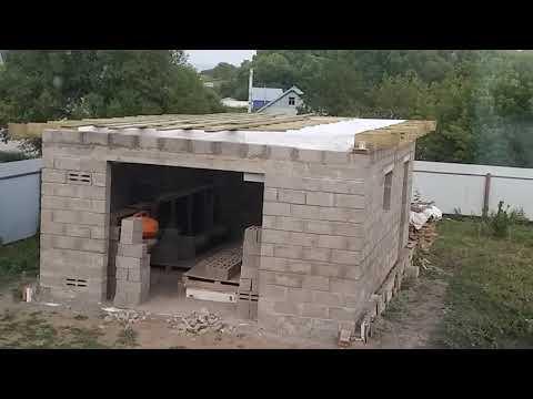 Крыша гаража за три дня