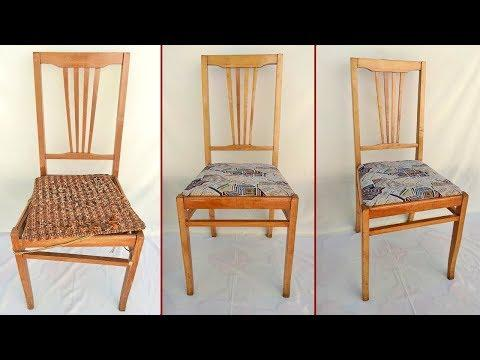 Реставрация старого стула. Ремонт мебели своими руками