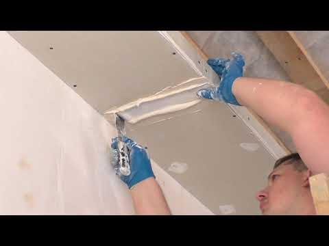 Делаем короб с гипсокартона  с диодной подсветкой, под натяжной потолок. Серия №23