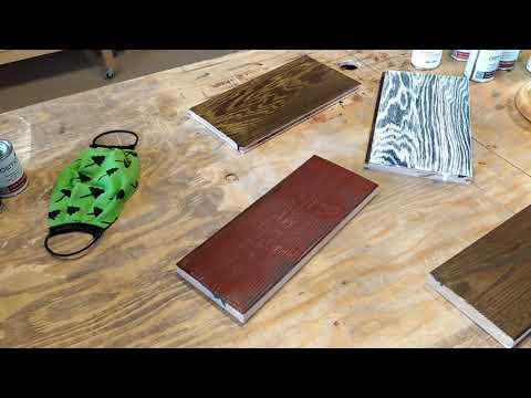Двухцветные покрытия для древесины. От подготовки древесины до нанесения масла.