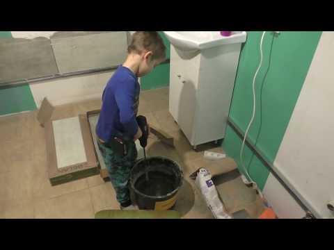 Ремонт ванной комнаты.Укладка плитки на стены в ванной своими руками #1