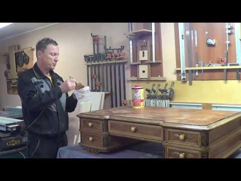 Реставрация старинного стола ч.1 Restoration Of The Old Table Part 1