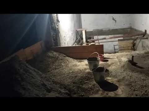 Ремонт гаража поднятие гаража яма в гараже. Часть 5