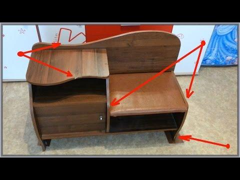 Ремонт мебели из ЛДСП своими руками  Замена кромки  Ремонт торцов
