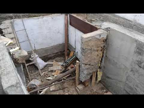 Ремонт гаража поднятие гаража яма в гараже. Часть 6.