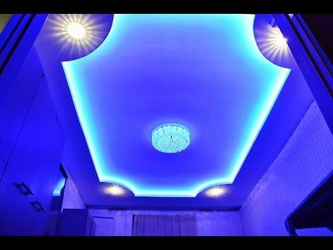Двухуровневый потолок из гипсокартона со скрытой подсветкой 2015 год