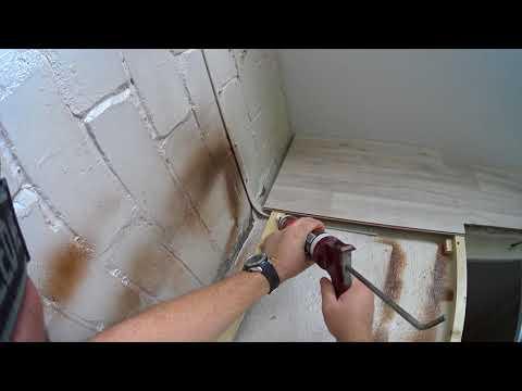 Ламинат на стену. Отделка балкона 1