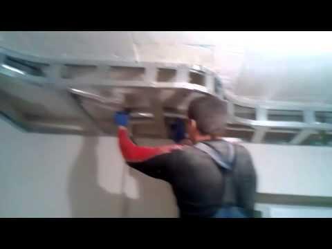 Потолок из гипсокартона своими руками.  Видео инструкция