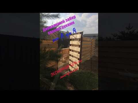 Недорогой деревянный забор своими руками