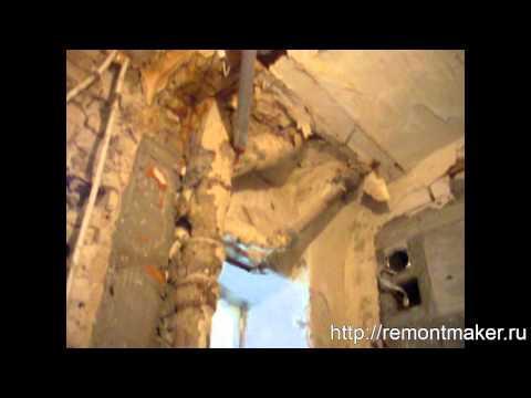 Ремонт в Сталинкой квартире. Вид после разгрома.